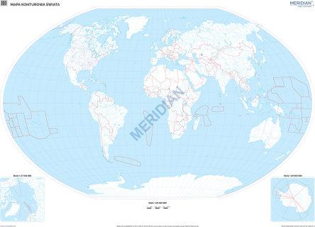 Mapa Konturowa Swiata Scienna Mapa Cwiczeniowa