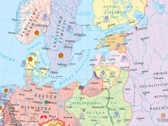 Europa W Latach 1919 1939 Mapa Scienna