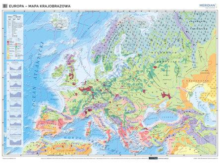 Mapa Krajobrazowa Europy Mapa Scienna
