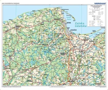 Woj Pomorskie Scienna Mapa Administracyjno Samochodowa
