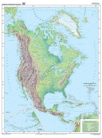 Ameryka Polnocna Mapa Fizyczna