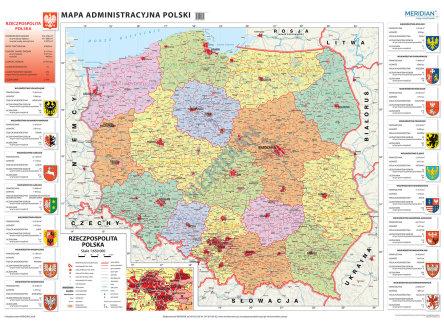 Mapa Administracyjna Polski 2018 Mapa Scienna
