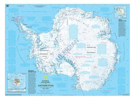 Antarktyda Scienna Mapa Fizyczna