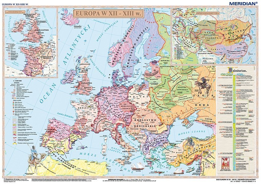 Europa W Xii Xiii Wieku Imperium Mongolskie W Xiii Wieku Mapa