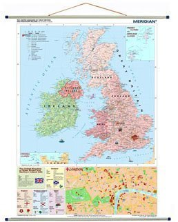 The British Isles political 70x100 cm - mapa ścienna
